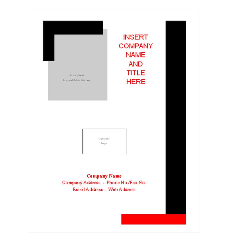 Lovely Free Report Cover Page Template Within Free Report Cover Page Template
