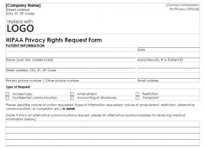 Free HIPAA Privacy Form