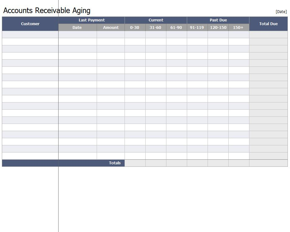 Accounts Receivable Aging Workbook
