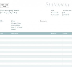 Free Billing Statement Template