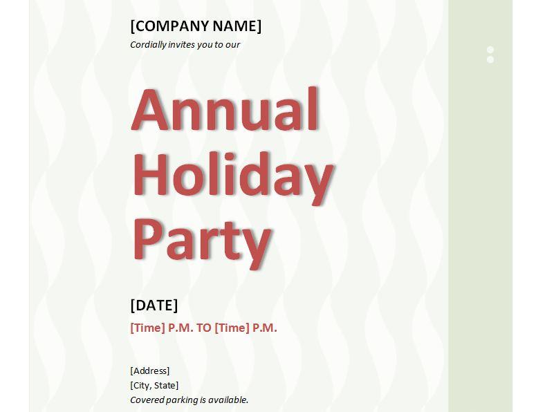 Free Company Holiday Party Invitations