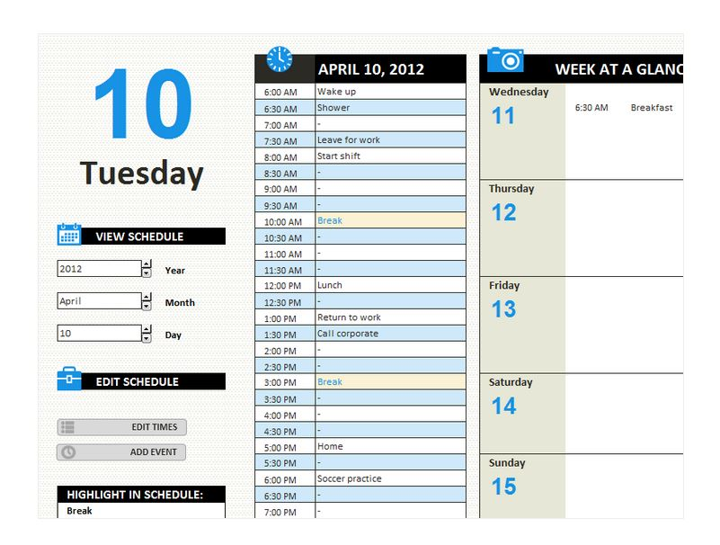 search results for �monthly work schedule template excel
