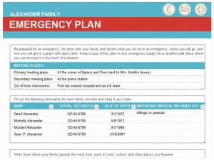 Free Emergency Family Plan Template