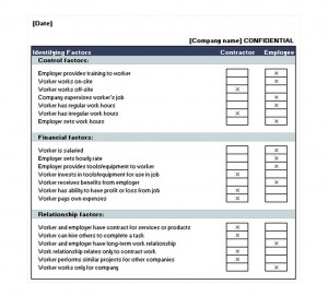 Free Employee Contractor Template