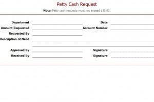 Free Petty Cash Request Template