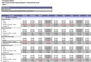 Free Plan vs Actual Variance Report