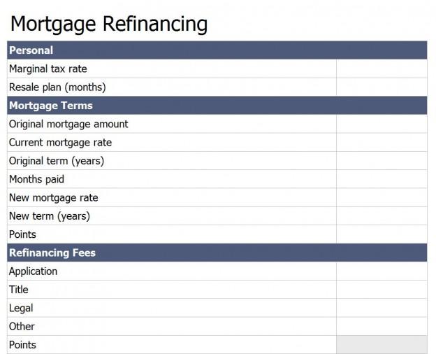Refinance Mortgage Loan Calculator Free