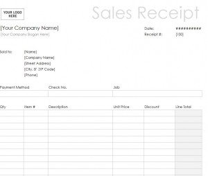 Sales Receipt Template Word Document