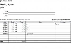 Free Staff Meeting Agenda Template