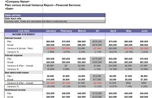 Free Variance Report Template