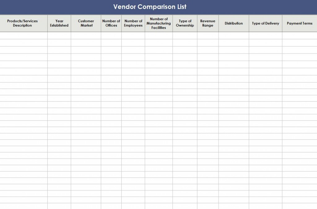 Free Excel Database Templates
