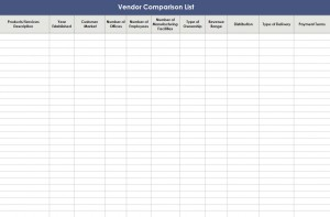 Free Vendor Comparison Template
