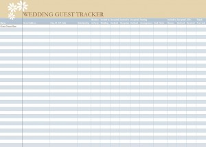 Free Wedding Guest List Spreadsheet