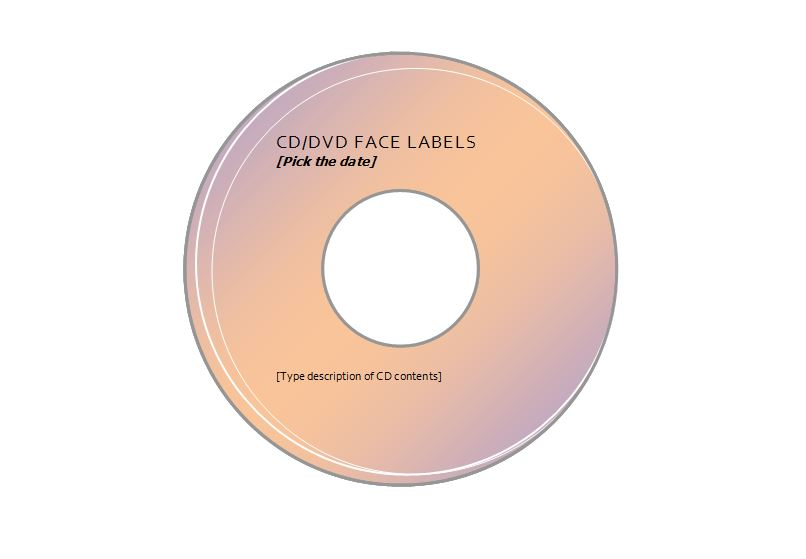 Avery CD Label Template 5931 Free