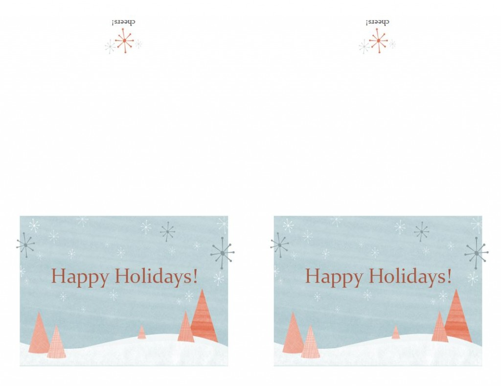 Free Avery Greeting Card Template