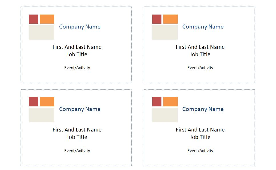 Free Avery Name Badge Template