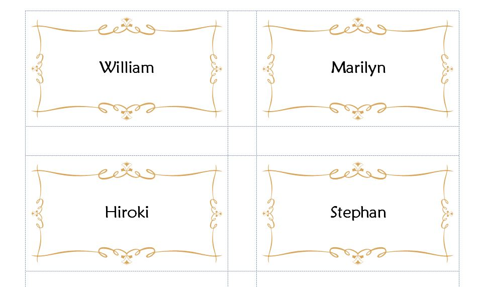 Avery Place Card Template | Avery Place Cards