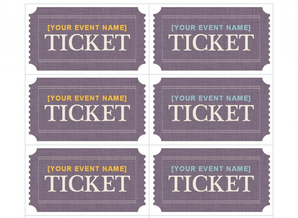 Free Avery Ticket Template