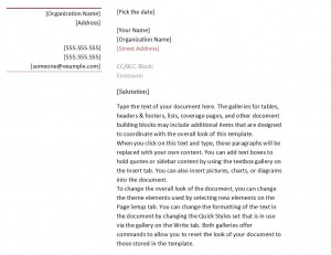 Free Business Letter Format Template