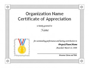 Free Certificate of Appreciation