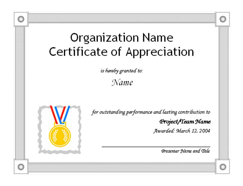 The Certificate Of Appreciation Template Is Free And Customizable