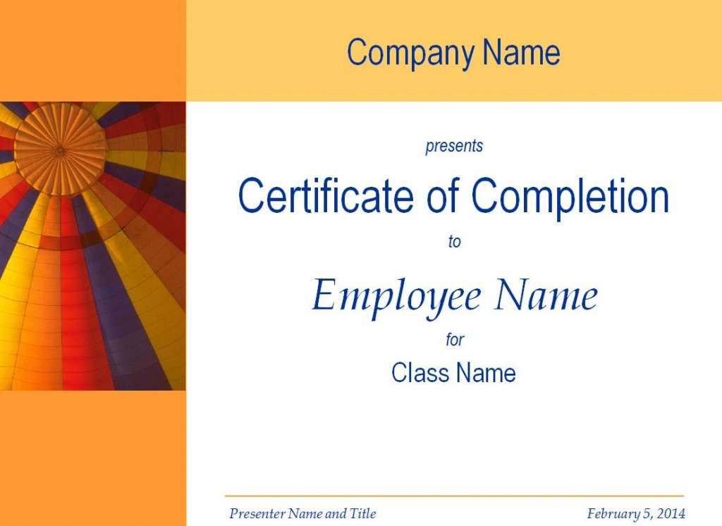 Free training completion certificate templates etamemibawa certificate of training completion template yadclub Choice Image