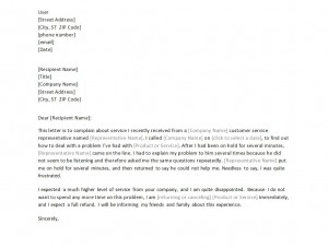 Complaint Letter Template Free