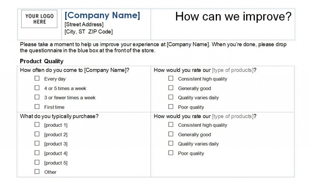 Beautiful Customer Service Survey Template Intended For Customer Survey Template Word