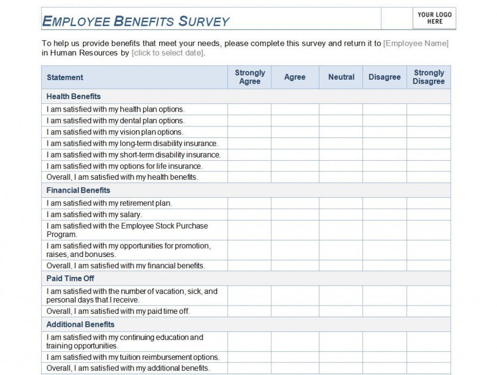 Free Employee Benefits Survey