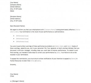 Free Employee Termination Letter