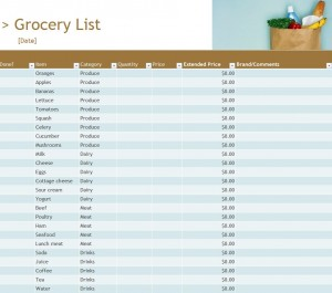 Grocery Inventory List Free