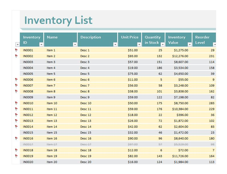 Inventory Excel Sheet | Inventory Excel Sheet Download