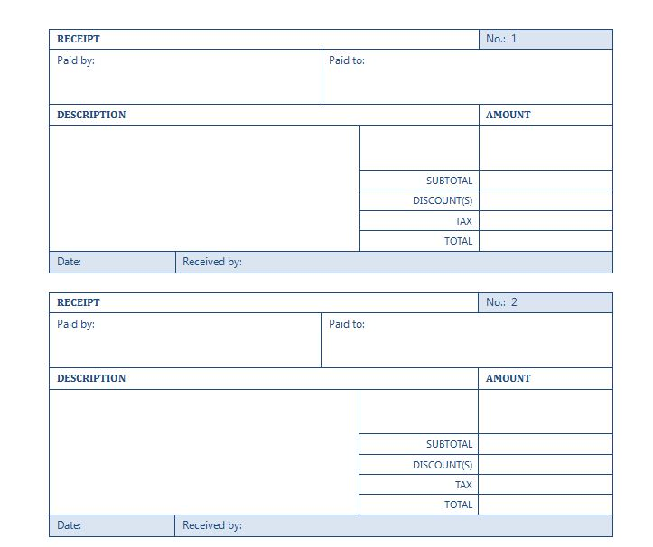 Free Rental Receipt Template