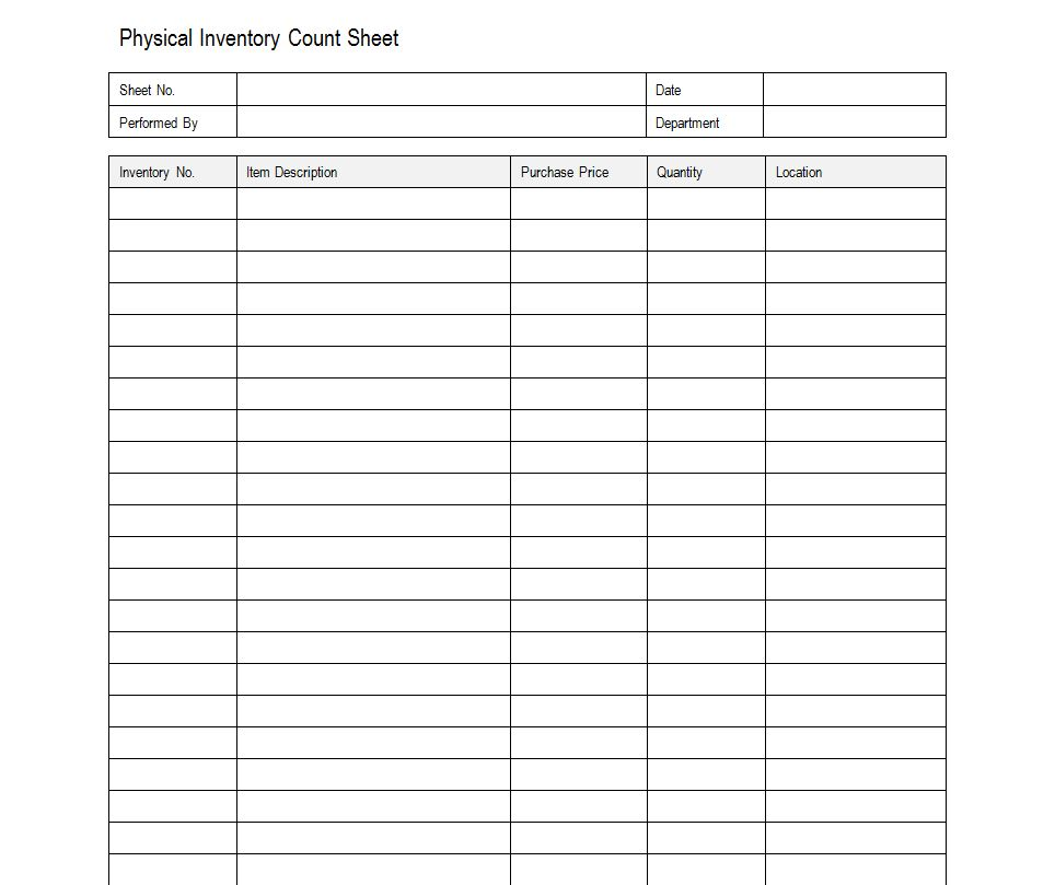 Marvelous Sample Inventory Sheet  Inventory Sheet Sample