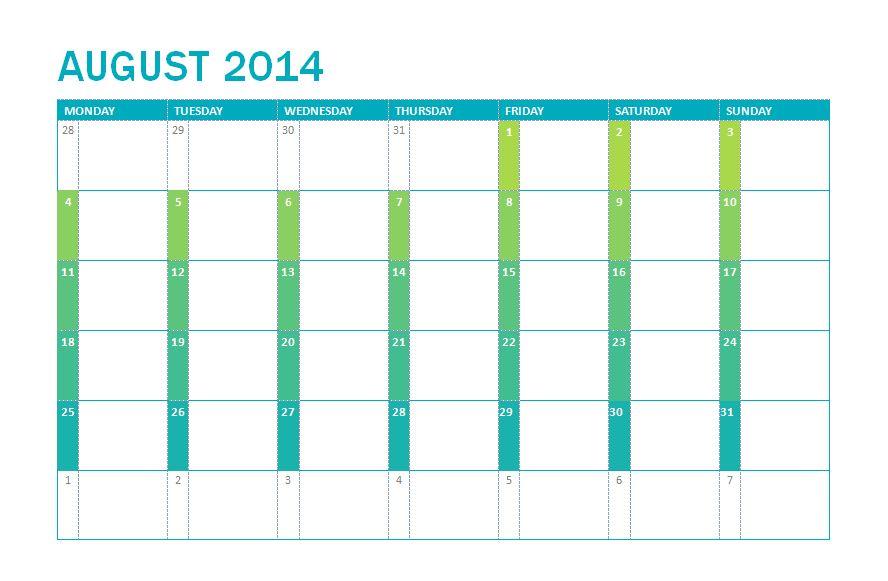 Microsoft 2014 School Calendar