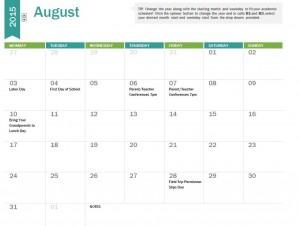 Free 2014-2015 Academic Calendar