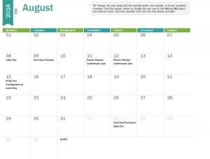 Free 2017-2018 Academic Calendar