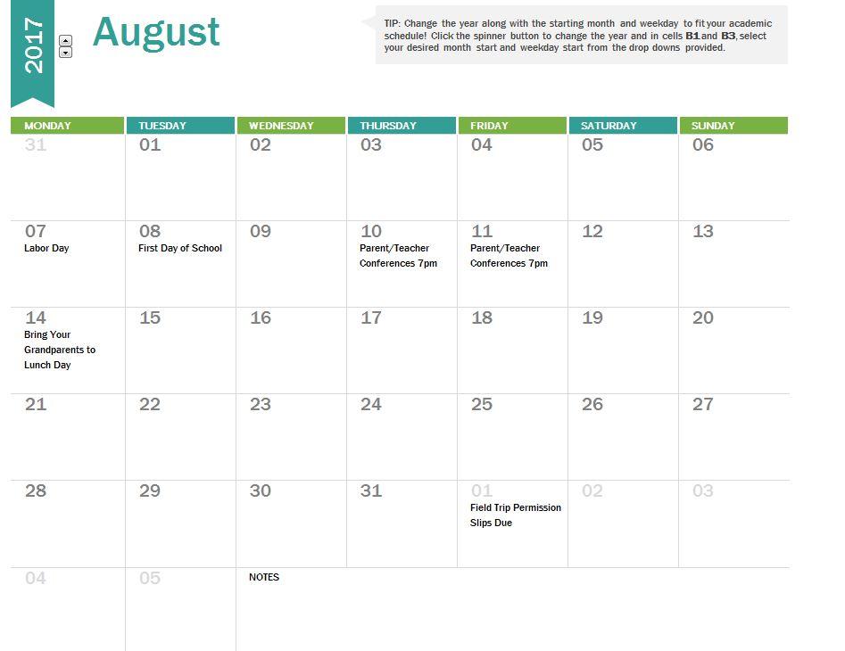 2017 School Calendar | School Calendar 2017