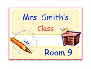 Free Classroom Signs