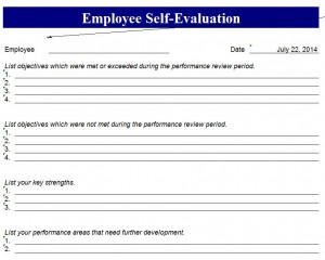 Free Employee Self Evaluation Form