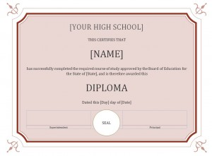 Free High School Diploma Template