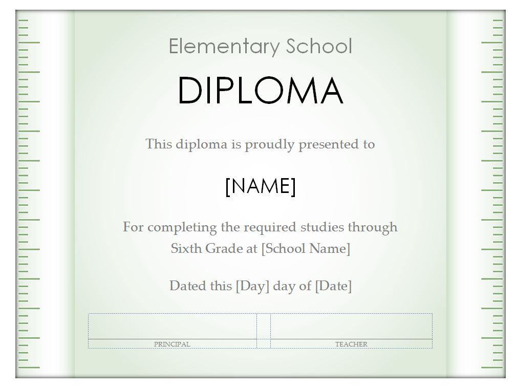 Free Homeschool Diploma Template