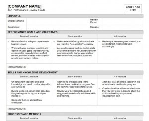 Free Job Performance Review Template