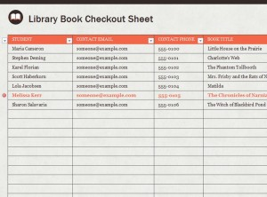 Free Library Sign Out Sheet Template