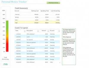 Free Personal Money Tracking Template