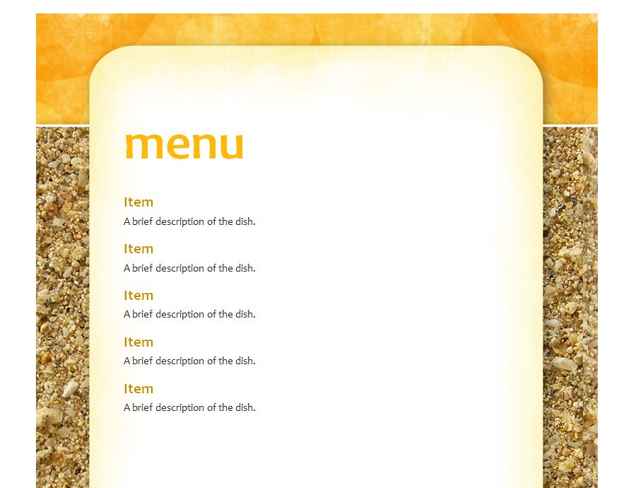 Free School Lunch Menu Template