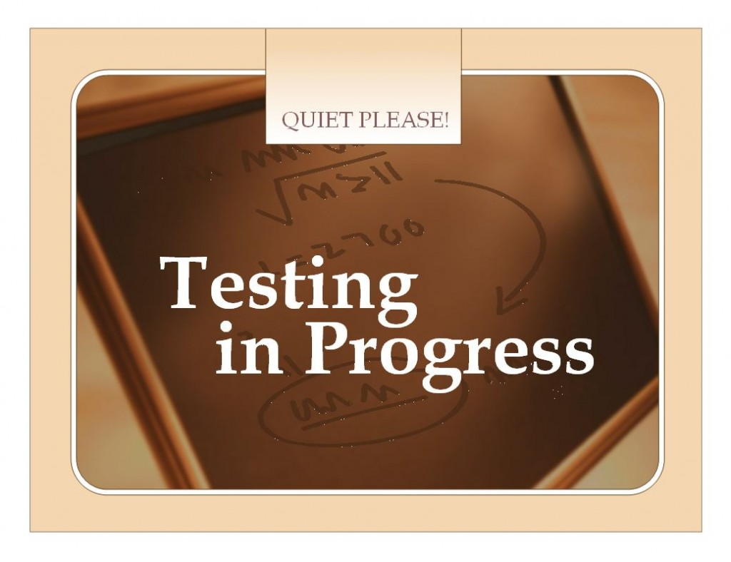 Free Test Sign Template