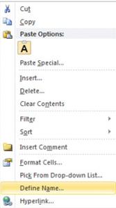 Excel Dropdown Lists