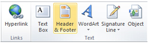 Header and Footer in Excel
