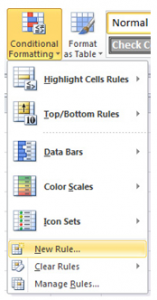Highlighting Values in Excel
